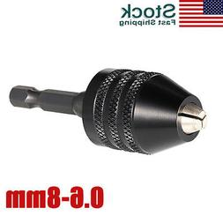 0.6-8mm 1/4 Inch Hex Shank Keyless Drill Chuck Screwdriver I