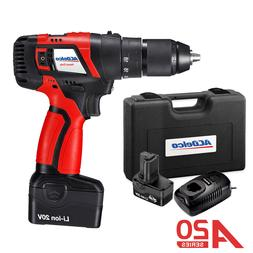 ACDelco 1/2'' Drill Driver 2-Speed 20V Compact Tool with 2 b