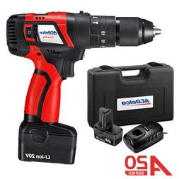 ACDelco 1/2'' Hammer Drill 2-Speed 20V Compact Tool with 2 b