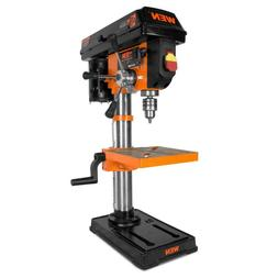 10 in. drill press with laser | wen cast iron guide base ben