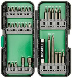 Hitachi 115292 30 Piece Drive Set-T Steel