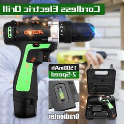 """3/8"""" 12V LED Cordless Electric Drill Driver Screwdriver Tool"""