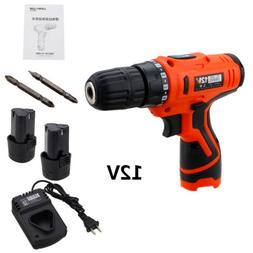 12V Electric Cordless Screwdriver Drill Driver Quick Charger