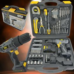 77 Pieces Household Lithium Battery Cordless Drill Driver Po