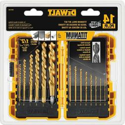 Dewalt 14 PCS Titanium Pilot Point Drill Bit Set for Metal a