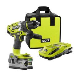 "Ryobi 18-V One+ Cordless 1/2"" Hammer Drill/Driver With 4Ah B"