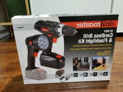 Drill Master 18 Volt Cordless 3/8 In. Drill/Driver And Flash
