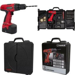 Stalwart 18-Volt Cordless Drill, With 89-Piece Drill Set, 75