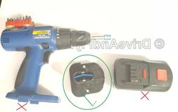 18V 2000Ah Ni-CD Harbor Freight Drill Master Adapt New to Ol