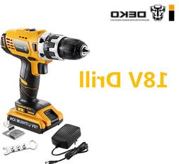 DEKO 18V Cordless Drill Mini Screwdriver Wireless Power Driv
