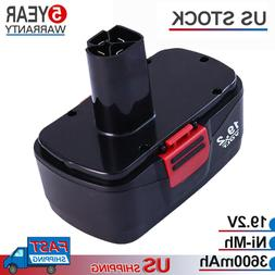 19.2 Volt 3.6Ah Battery Replace For Craftsman C3 Die Hard 11