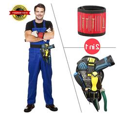 2-Piece Set Magnetic Wristband & Drill Holster Combo - Men's