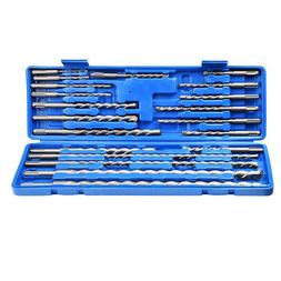 20pcs Rotary Hammer Drill Bits Chisels Kit SDS Plus Concrete