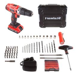 Stalwart 20V 62 Pc Hammer Drill 2 Speed Accessory Kit Includ