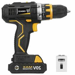 20V Cordless Drill/Driver Pro 1/2-inch Chuck 2-Speed Max Tor