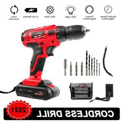 20V Max Brushed Powerful Cordless Drill Driver Tool Li-Ion b