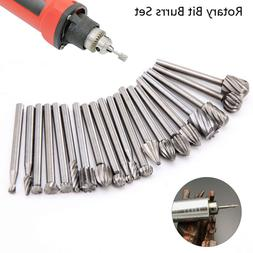 20X HSS Head Carbide Burrs Rotary Drill Die Grinder Carving