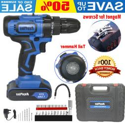 21-Volt drill 2 Speed Electric Cordless Drill Driver with 29