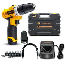 12-Volt drill 2 Speed Electric Cordless Drill/Driver with Bi