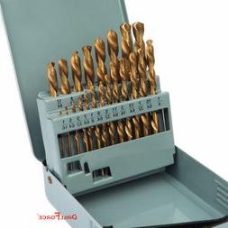 21PCS Drill Bit Set HSS Titanium Multi-Bits Twist Metal Tool