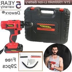 16.8V LITHIUM ION CORDLESS DRILL IMPACT DRIVER SCREWDRIVER D