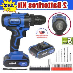 21v power cordless drill driver electric rechargeable