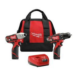 Milwaukee 2494-22 M12 Li-Ion 2-Tool Combo Kit  New
