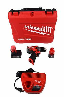 Milwaukee 2504-22 M12 FUEL 12V Lithium-Ion 1/2 in. Hammer Dr