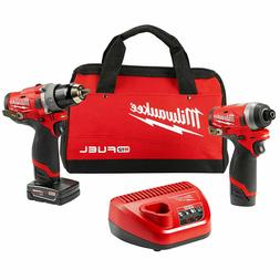 Milwaukee 2598-22 M12 Fuel Hammer Drill and Hex Impact Drive