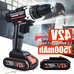 2speed portable cordless rechargeable electric drill driver