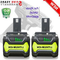 2x For P108 Ryobi 18V One+ Plus Lithium High Capacity Batter