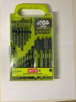RYOBI 31 Piece Set Black Oxide Metal Drill Bits And Drive To