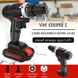 36V Electric Impact Cordless Drill Wireless Rechargeable DIY