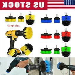 3Pcs Set Tile Grout Power Scrubber Cleaning Drill Brush Tub