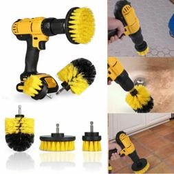 3Pcs Tile Grout Power Scrubber Cleaning Drill Brush Tub Clea