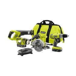 4 Tool Super Combo Kit, 18V Lithium-Ion, With IntelliPort Te