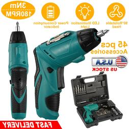 45-in-1 Rechargeable Wireless Electric Screwdriver Drill Set