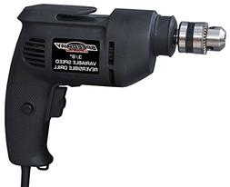 Speedway 45137 Variable Speed Reversible Drill, 3/8""