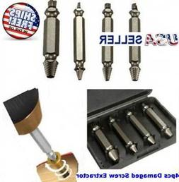 4pc Broken Bolt Remover Screw Extractor Easy Out Drill Bits
