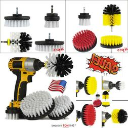 4X Drill Brush Scrub Pad Power Scrubber Cleaning Kit All Pur