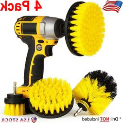 4x Electric Drill Cleaning Brush Grout Power Scrubber Tub Cl