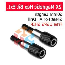 """4X Magnetic Screwdriver Extension Quick Release 1/4"""" Hex Sha"""
