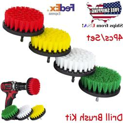 4X Utility Drill Brush Power Scrubber Cleaning Combo Scrub T