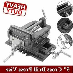 "5"" Cross Drill Press Vise Slide Metal Milling 2 Way X-Y Clam"
