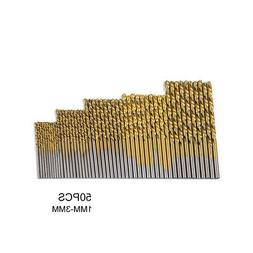 50PCS Mini Micro Round Shank Drill Bits Set Small Precision