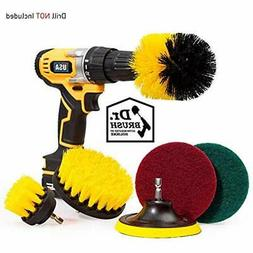 6 Brushes Piece Drill Attachment Set Scouring Pads Power Scr