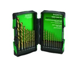 Hitachi 728174 Titanium Bit Drill Set, 17-Piece