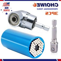 7mm-19mm Universal Socket Ratchet Wrench Power Drill Adapter
