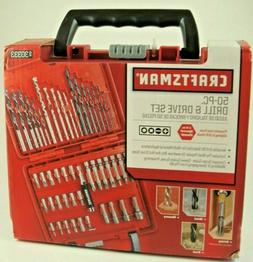 Craftsman 50 Piece Drill and Driving Bit Set With Durable Ha