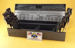 Drill Hog® 115 Pc Drill Bit Set Letter Number HI-Molybdenum
